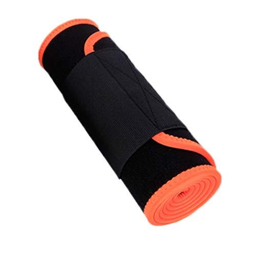 Hotaluyt Männer Frauen elastische Taillen-Trimmer-Gurt, Magen-Fat Burner Einstellbare Low Back Lordosenstütze (Trimmer Elastisch Taille)
