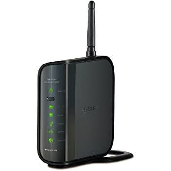 Belkin N150 Wireless Router with Push Button Security Set Up and Network Status Display (F6D4230uk4)