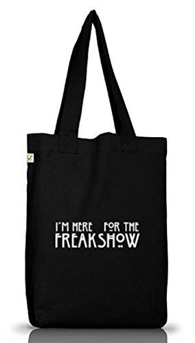 Shirtstreet24, AHS - Freak Show, Jutebeutel Stoff Tasche Earth Positive (ONE SIZE) Black