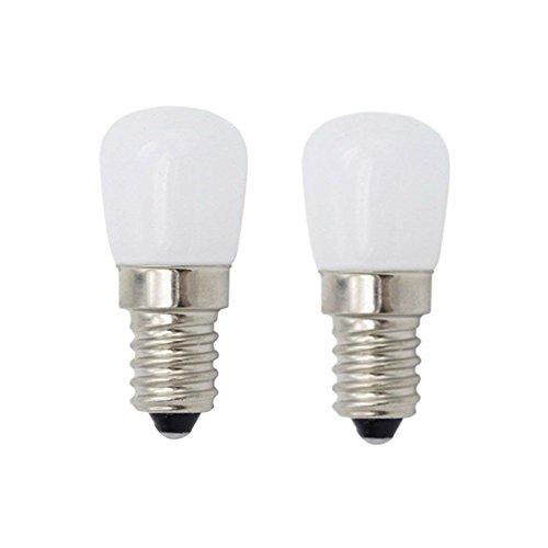 E14 LED Birne Kühlschrank Gefrierschrank Licht, Gerätelampe, Schraubbirne, 220V, 6000K 2W, nicht dimmbar, für Kühl- und Gefrierschränke, weiß, 2-Packs