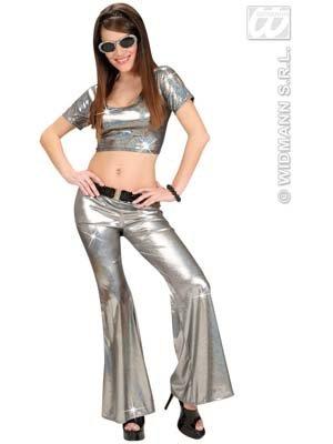 Widmann-Kostüm-Hose Disco holografisch, - Kostüm Soiree Disco