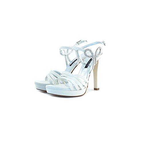 Decolte', sandali gioiello da sposa Albano, in raso bianco, taglia: 40