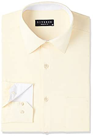 Diverse Men's Formal Shirt (8903905008725_DVF05F2L01-37_46_Cream)