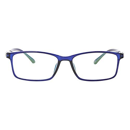 Hzjundasi Ultra Licht Blau Rahmen Kurzsichtig Brille, Frauen Männer Kurzsichtige Brillen Kurzsichtigkeit Goggles Spectacles Eyewear -3.00 Stärke