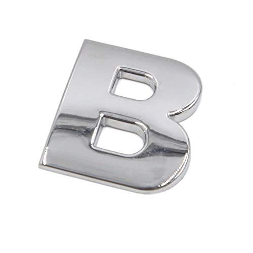 Futurepast Auto-Schrift 3D-Buchstaben, Auto Emblem Aufkleber Alphabet, 3D DIY Auto Aufkleber, Zahlen Aufkleber Abziehbild Dekoration Zubehör für Auto by