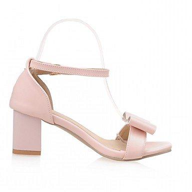 LvYuan Da donna Sandali Finta pelle PU (Poliuretano) Estate Autunno Footing Fiocco Quadrato Beige Blu Rosa 5 - 7 cm blushing pink