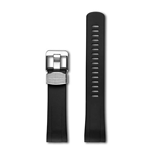 Crafter Blue Cinturino Estremità Curva Orologio da Sub Automatico Compatible con Seiko Turtle Prospex SRP773 - Negro