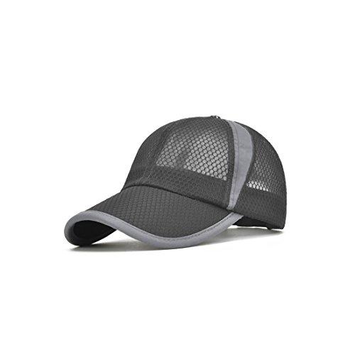 BINGMAX Herren & Damen Basecap Baseball Cap Atmungsaktiv Golf Mesh Snapback Cap Fitness Laufkappe Schirmmütze