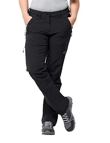 Jack Wolfskin Activate XT Damen vielseitige Damen Softshellhose, wind- und wasserabweisende Outdoorhose , Schwarz (Black) , 40