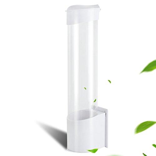finlon Tasse Spender Wasserspender Automatische Schröpfen Gerät Oberfläche Halterung Einweg Tasse Wasser Papierbecherspender Anti Dust Behälter für Househould, Party und öffentliche Nutzung