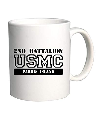 Usmc Parris Island (T-Shirtshock Tazza 11oz Bianca OLDENG00285 USMC 2ND Battalion Parris Island)