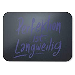 BLAK TEE German Perfektion Ist Langweilig Slogan Mouse Pad 18 x 22 cm in 3 Colours Black