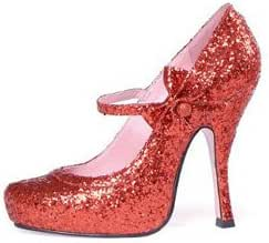 Fab Sparkly Red Glitter High Heel Mary Jane Style Designer