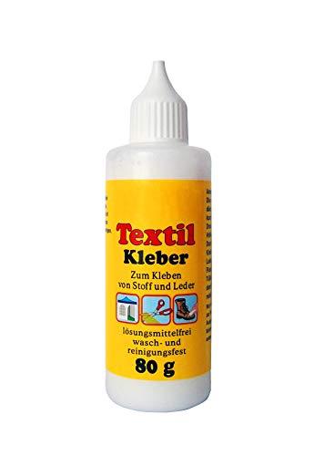 TEXTIL KLEBER 80ml Texilkleber Textilklebstoff Stoffkleber Lederkleber Stoff -