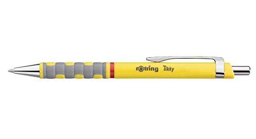 Rotring Tikky gelb Ball Point blau Kugelschreiber–1pièce (S) (blau, gelb, 1Stück (S))