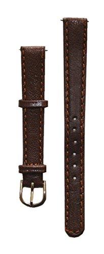 Preisvergleich Produktbild Uhrenarmband Damen Leder 12 mm mit 2 Federstegen Braun (0006)