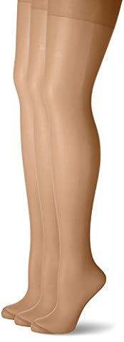 Nur Die Damen Strumpfhose 722201, 3er Pack, 20 DEN, Gr. 52 (Herstellergröße: 50-52), Braun (Mandel 116)
