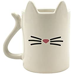 Gift Republic Animal Gato Taza, cerámica, multicolor