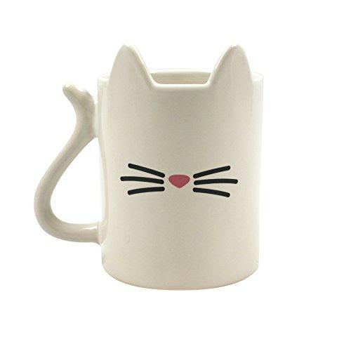 Gift Republic Animal Gato Taza, cerámica, multicolor