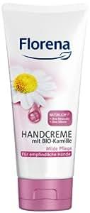 Florena Handcreme mit Bio Kamille für empfindliche Hände, 4er Pack (4 x 100 ml)