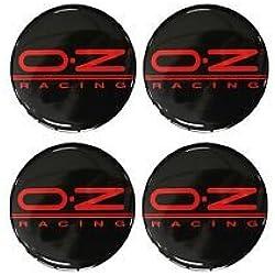 4 autocollants OZ Racing - 55 mm - Avec emblème pour décorer les jantes, moyeux et enjoliveurs