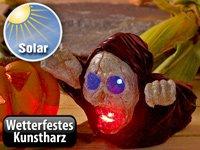 Lunartec Solar schreiender Geist mit leuchtenden Augen (LED) von Lunartec bei Lampenhans.de