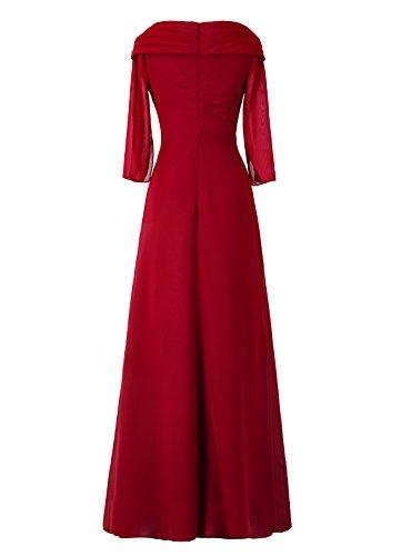 Dresstells, A-ligne robe longue de mère de mariée, robe de soirée, robe de demoiselle d'honneur Noir