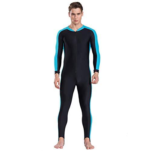 HWTP UPF 50+ Lycra Tauchen Neoprenanzug Anti UV Einteilige Rash Guard Langarm Bademode surfen Anzug Männer Frauen Sun Protect,A,XS