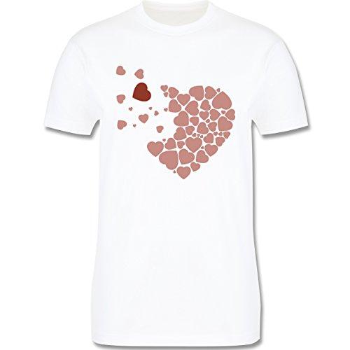 Romantisch - Herz Herzchen - Herren Premium T-Shirt Weiß