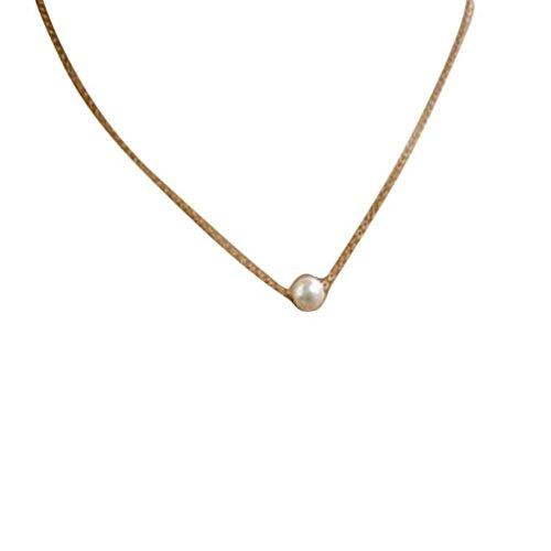 Ba Zha Hei Perle Halskette Klavikulärkette Frauen Fashion Simple Nachahmung Perle Bib Choker Aussage Kragen Halskette Frauen Kupfer Anhänger Schlüsselbein Halskette Elegant Schmuck Halskette (Silber) (Silber-katze-kragen)