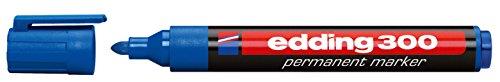 edding Permanentmarker edding 300, nachfüllbar, 1,5 - 3 mm, blau