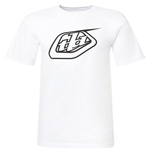 Troy Lee Designs T-Shirt Logo Weiß Gr. M (Logo Lee Designs Troy)