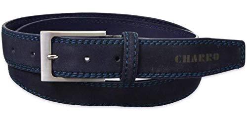 CHARRO Herren Gürtel Blau Marineblau 80