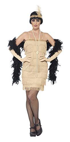 Smiffys 44678S - Damen Flapper Kostüm, Größe: 36-38, gold