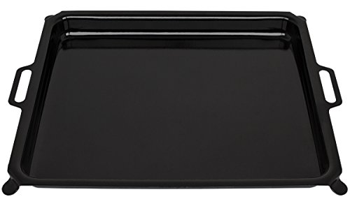 Beeketal Gasgrill Grillpfanne aus emailliertem Stahl mit Griffen, Grill Pfanne passend für Beeketal Gasgrill Typen GGB-1 und GGB-2, Stahlpfanne Maße (L/B/H) ca. 705 x 525 x 70 mm