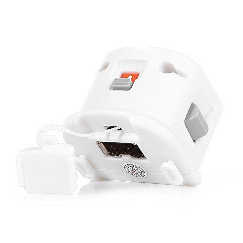 Kobwa MotionPlus Externe Fern Bewegung Verfolgung Sensor Adapter für Nintendo Wii Fernbedienung Regler Weiß