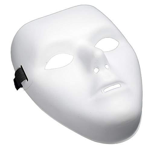 CDKJ Einfache Maske der Halloween-Feier Maske Props Partyangebot für Frauen Dekor (weiß) Hochwertig, langlebig und eigenständig Ms.