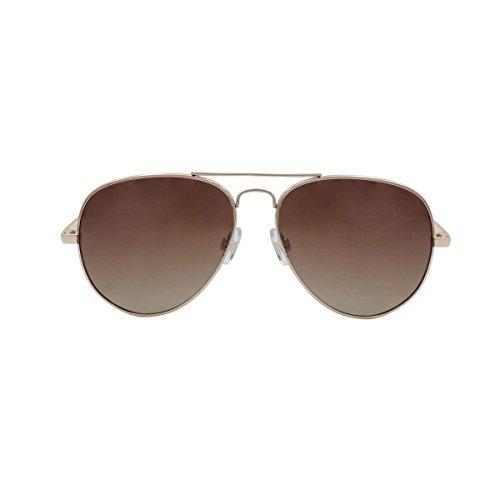 OCEAN SUNGLASSES - Banila aviator - lunettes de soleil en MÃBlackrolltal - Monture : DorÃBlackroll - Verres : DÃBlackrollgradÃBlackroll Marron (18110.9)