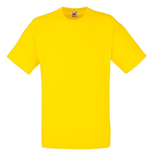 Fruit of the Loom T-shirt in cotone Giallo