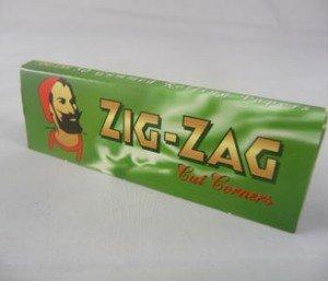 Zig Zag Zigarettenblättchen, Grün, 20 Packungen a 50 Blättchen