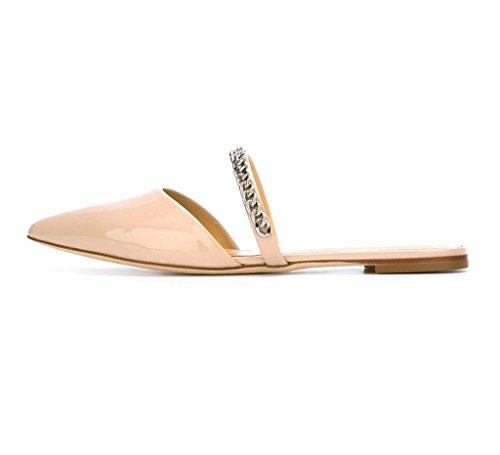 EDEFS - Chaussures Femmes - Chaussons Espadrilles - Sandales - Noir - Chaussures Bout Pointu Beige