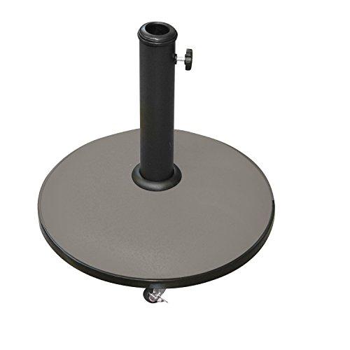 Galleria fotografica Piede per ombrellone rotondo in cemento con ruote–25kg–Tortora