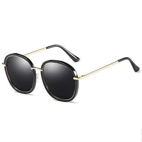 BFQCBFSG Damenbrillen Retro Runde Brillen Runde Brillen Mode Uv Blendschutz Urlaub Reisen Freizeit Persönlichkeit Schutzbrille, Schwarz