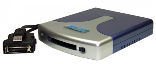 ICS-235 ATA - USB Single-Slot Kartenlesegerät für ATA Karten und Adapter (CF/SD/MMC/SM/Microdrive) -