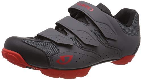 Giro Carbide R Ii Mtb Zapatos de Bicicleta de montaña Hombre, Multicolor (Dark Shadow/Red 000), 46 EU