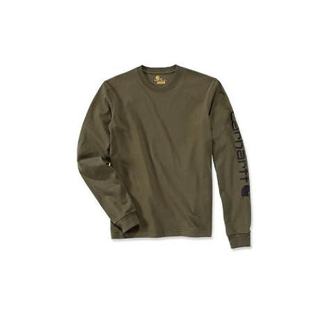 Carhartt .EK231.ARG.S006 Sleeve Logo T-Shirt, Large, Army Green