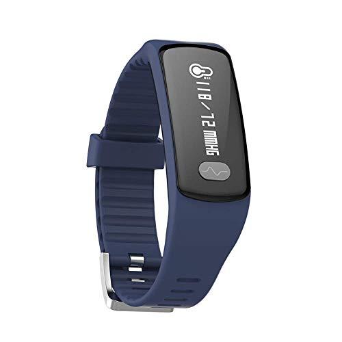 AZWE Fitness Tracker, Pulsmesser Fitness Watch Activity Tracker mit Schrittzähler Schlafmonitor Anruf Sms Sns Hinweis für Frauen Männer Kinder IP67 wasserdicht,Blau