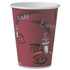 SOLO Cup Company OF12BI-0041 Bistro Design Hot Drink Cups- Paper-