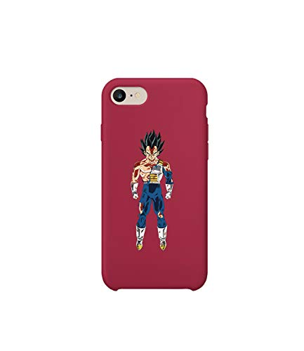 Vegeta Saiyan Dragon Ball iPhone 6 7 8 X Plus Hard Plastic Protective Phone Case Custodia Protettiva Regalo anniversario compleanno Natale