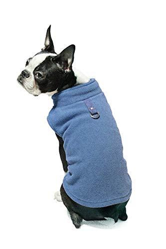 Ducomi polardog–Chaleco Perro de Suave cálido Pilas–Sudadera para Perros de pequeño y Mediano tamaño para los días de frío de Invierno–fácil de Poner–Gancho Incorporado para Correa